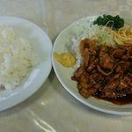 カレーヤ食堂 - バラホルに白飯 670円(税込)