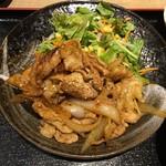 ぽん輔 - ホルモン焼き定食のホルモン焼き