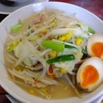 満菜 - 野菜タンメン680円+トッピング味付玉子50円