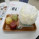 埜庵 - さいか屋藤沢オリジナル 3色かき氷『彩り』2016年