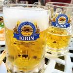 クレールベイサイド ビアガーデン - お代わりは普通のビール