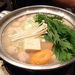 水たき いろは - 1607_いろは_博多名物地鶏水炊き@4,300円(1人前)×2人前