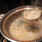 水たき いろは - 1607_いろは_博多名物地鶏水炊き@4,300円(1人前)×2人前〆は雑炊②