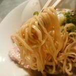 らぁめん家 有坂 - 【2016.8.6(土)】味玉らぁめん(並盛・150g)880円の麺