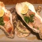 やきやき鉄板お好み焼ききんぎょ - 岩牡蠣ポン酢