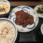ねぎし - 2016年8月5日  むらさきタン定食1100円。
