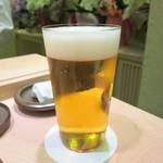 すし 陵 - 生ビール