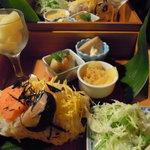 きっさこ - ランチ(チラシ寿司ご膳) Photo By PEPOPA
