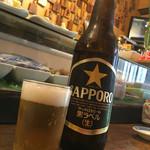 みよ福 - 瓶ビール350円(大びん)