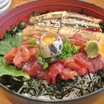 鮨 よし喜 - 鮨よし㐂・づけ穴丼¥1,100(2016.03)