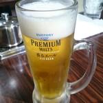 三寶中華餃子坊 - ドリンク写真:生ビール。