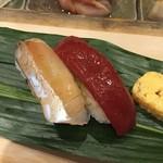 鮨 逸喜優 - シマアジ、赤身