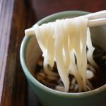 わら口そば - 一番粉だけを使用した、真っ白な蕎麦。