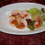 レストランセェールダルジャン - 蒸し鶏&サラダ(追加注文)