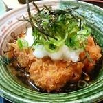 かつ義 - 「ひれかつと豆腐カツセットの定食」のおろし豆腐かつ