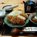 かつ義 - 「ひれかつと豆腐カツセットの定食」