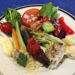 レストラン ストックホルム - スモーガスボードランチ(¥3,000) サラダ