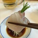 寿司一 - 芽ネギを巻いたヒラメ!!お気に入り♡