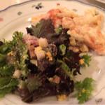 地中海料理 スタビアーナ - シーザーサラダ、マカロニグラタン