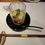54543581 - ゴマ豆腐と抹茶豆腐のジュレ