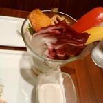 54544441 - いろどり美しいお野菜パフェ♡小さいグラスのしろいのはソース