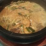 焼肉・韓国料理 韓味亭。 - カルビラーメン あつあつ