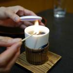 ニ幸 本店 - ふぐひれ酒 ¥800