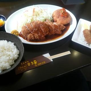 とんかつ ひろ喜 - 料理写真:特選ヒレとんかつ&海老クリームコロッケ定食&カキフライ