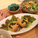 カフェ ゆとりの空間 - 栗原さんちの晩ごはん:サーモンのタルマヨ焼(副菜2品・サラダ・みそ汁・ごはん・デザート2品・ドリンク付)