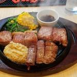 54556952 - 黒毛和牛サーロイン200g(2500円)、ランプ肉100gです。