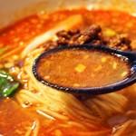 しゃんらん - 四川担々麺 炒飯セット(四川担々麺:スープ)