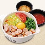 道とん堀 - アメリカンドッグお好み焼き