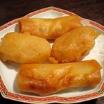 54561261 - 海老入りプリプリ春巻き、大根餅の衣揚げ(2名分)