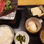 54561667 - 朴葉みそ定食+飛騨牛のせ=1,350円