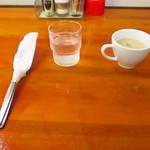 洋食 ZORO - カトラリー お冷 スープ