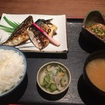 叶家 - サバ塩焼き定食 790円