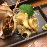 海鮮 皿もつ なぶら家 - つぶ貝刺身