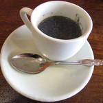 もっせ~明石海鮮と日本酒の和食酒場~ - オープン記念でサービスしていただいた黒ごまプリン