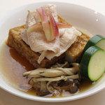 iro-hana かふぇ食堂 - 厚揚げに出汁の味がグッド!