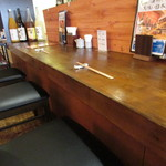 海鮮和食と日本酒 もっせ - カウンター席