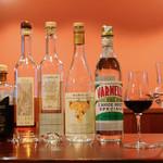 イタリアのごはんとワイン チルコロ - グラッパ。食後酒もあります