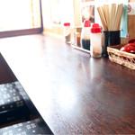 陣屋 - カウンター席