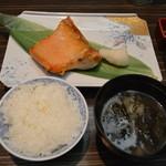 函館ダイニング雅家 - 鮭ハラス定食