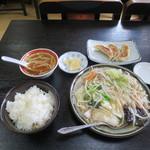味の散歩 中華村 - 料理写真:おすすめランチセット(野菜アツアツ旨煮)