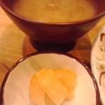 54584906 - みそ汁と沢庵漬け(2016年8月6日撮影)