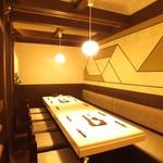 笑彩酒房 まっちゃん - 各テーブル間仕切りで半個室になります