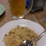 金蘭 - ワンコインセットのビールとミニチャーハン