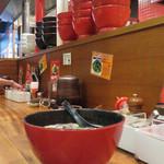 イップウドウ タオ - 和風のお椀型ラーメン鉢ですね。