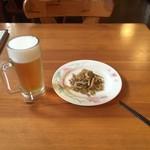 54591369 - 生ビールセット(生ビール中とザーサイ)