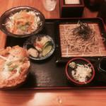 とっちゃん - ミニカツ丼セット(冷たい蕎麦)1100円